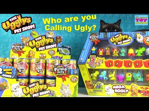 Putrid Pets The Ugglys Pet Shop Mega Uggly Pet Carrier Unboxing Blind Bags | PSToyReviews