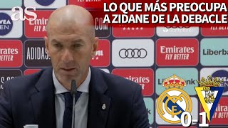 REAL MADRID 0- CÁDIZ 1 | Zidane destacó lo que más le preocupó de la debacle general | AS