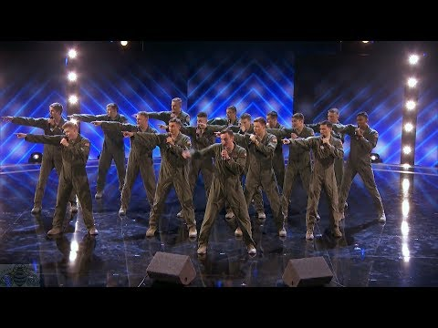 Americas Got Talent 2017 In The Stairwell Airforce Acapella Judge Cuts S12E11