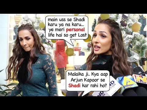 Malaika Arora gets Upset & Walks Off When Reporter Asks About MARRYING Boyfriend Arjun Kapoor