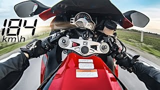 Street Ride On CBR 1000RR - Top Speed Wheelie 184 Km\h