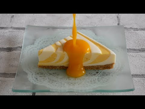 マンゴーレアチーズケーキ   No-bake Mango cheesecake