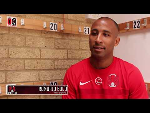 SIGNING: Midfielder Romuald Boco on completing E10 switch