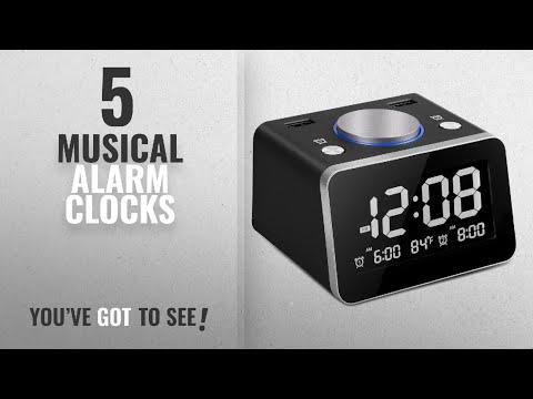Top 10 Musical Alarm Clocks [2018 ]: SVINZ Digital Dual Alarm Clock with 2 USB Charging Ports and