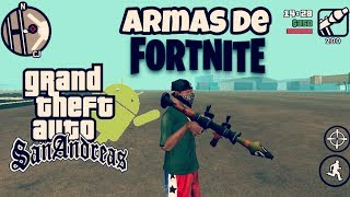 Fortnite Weapons Pack / Pour GTA Sa Android