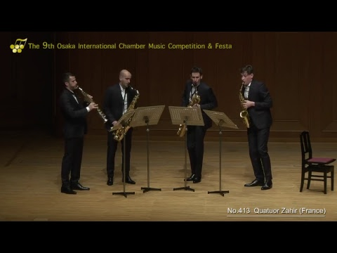 9th Osaka International Chamber Competition: Urban Saxophone Quartet & Quatuor Zahir