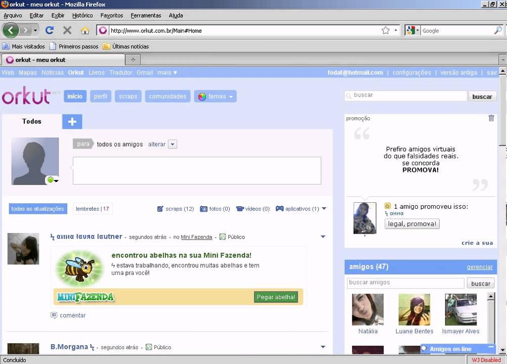 programa para descobrir senha de orkut