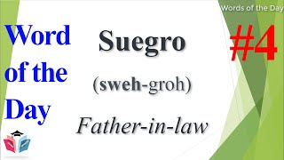 Spanish Word of the Day ★ Father-in-law ★ Spanish Words ★ Learn Spanish For Beginner