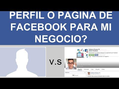 PERFIL Ó PÁGINA DE FACEBOOK PARA MI NEGOCIO?