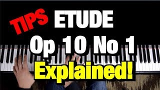 #1 Chopin Etude Op 10 No 1 Piano Tutorial (How to Play Lesson)