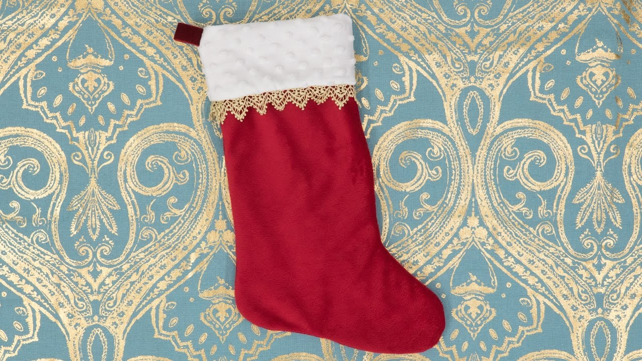 How to sew a christmas decoration - How To Sew A Christmas Stocking Pattern And Assembly