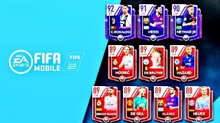 10 HIGHEST RATED PLAYERS IN FIFA 19 MOBILE- Ronaldo, Messi, Neymar Ratings,Celebrations and Gameplay