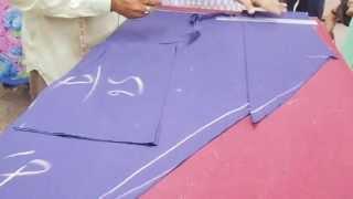 Simple Joint Salwar Cutting Method Pattern-How To Cut Salwar Kameej/Kameez