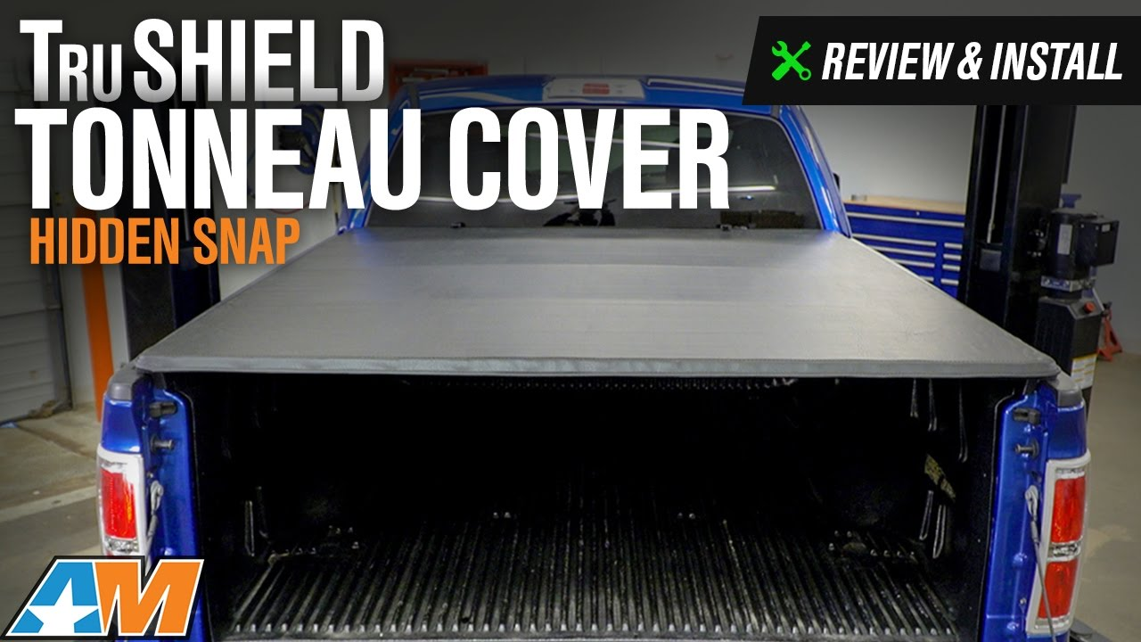 2004 2014 F 150 Trushield Hidden Snap Tonneau Cover Review Install Youtube