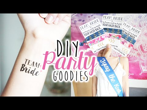 DIY Party Gift Favors & Accessories | Bachelorette