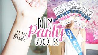 DIY Party Gift Favors & Accessories | Bachelorette