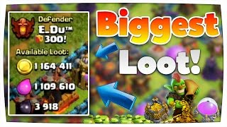 Biggest Loot ever! | 2,2 Millionen Resourcen! | Champ Angriff | Clash of Clans [deutsch/german]