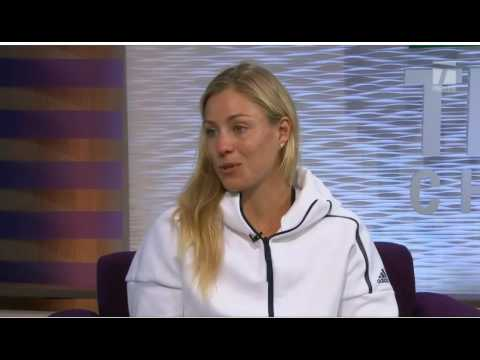 Angelique kerber v Simona Halep Tennis Channel Everywhere   in the studio