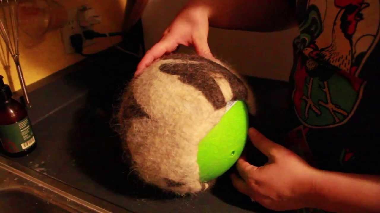 35f35ae711b Hat Felting Process (on a Ball) - YouTube