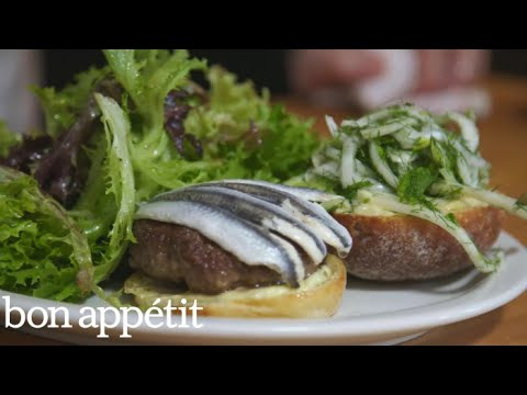 How to Make Hart's Lamb Burger | Cook Like a Pro | Bon Appetit