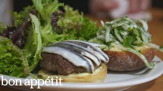 How to Make Hart's Lamb Burger | Cook Like a Pro | Bon Appetit