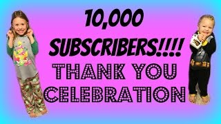 10,000 Subscribers!!! Day of Celebration: Elsa and Anna, French Toast, and Party Store!!!