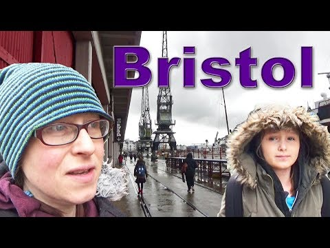 Exploring Bristol's Waterfront with Imo and Izzy. Bristol, England, UK.