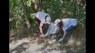 Жители Невинномысска очищают от мусора берега рек