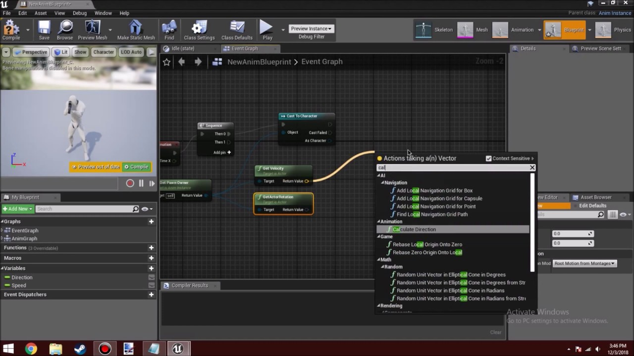 Unreal Engine 4 21 Tutorial: The New Calculate Direction