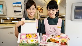 4 752 first class business class hello kitty plane on eva air royal laurel