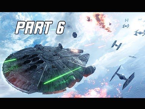 STAR WARS BATTLEFRONT 2 Walkthrough Part 6 - Millennium Falcon (PC Let's Play Commentary)