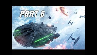 STAR WARS BATTLEFRONT 2 Walkthrough Part 6 - Millennium Falcon (PC Let's Play Commentary)
