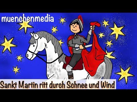 Sankt Martin ritt durch Schnee und Wind - Kinderlieder deutsch | Laternenlied | St Martin Lied