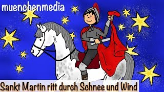 Sankt Martin ritt durch Schnee und Wind - Kinderlieder deutsch | Laternenlied | St Martin Lied thumbnail