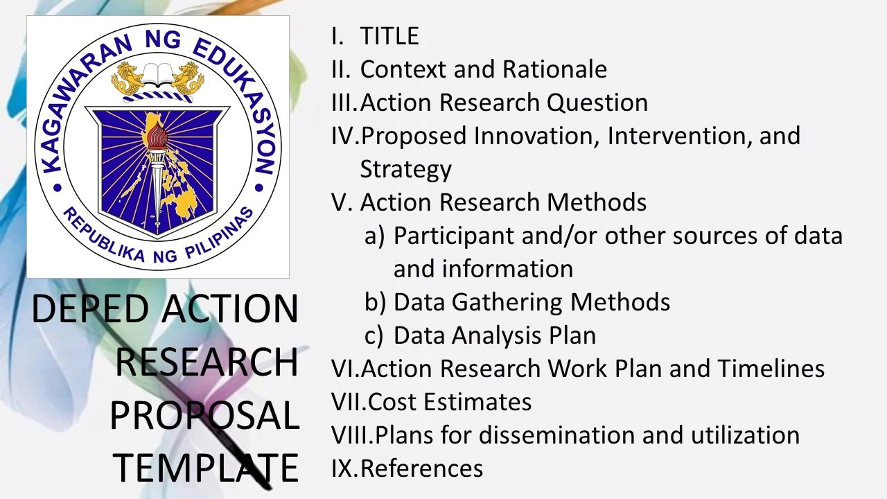 How to Make an Action Research + Action Research Proposal Template | Tagalog