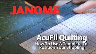 use acufil software to create a template for quilt stippling on the janome mc12000