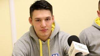 Maciej Staszczuk (Korona Ostro³êka) po meczu z Bugiem Wyszków