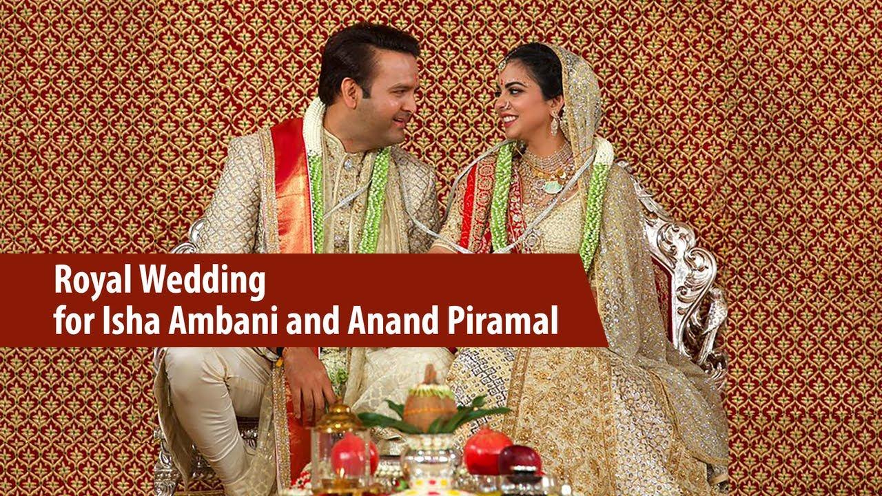 Royal Wedding Youtube.Royal Wedding For Isha Ambani And Anand Piramal Youtube