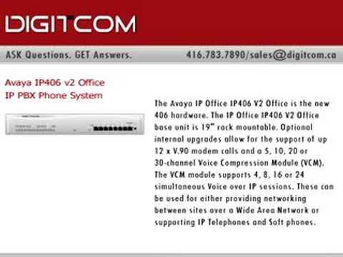 Avaya IP 406 v2 Office IP PBX Phone System, Digitcom.ca Tele