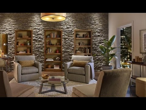 Create an Accent Wall with Faux Stone Panels - YouTube