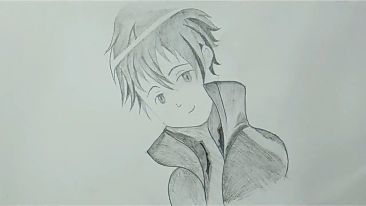Cool Pencil Drawing How To Draw Anime For Beginners Easy Youtube