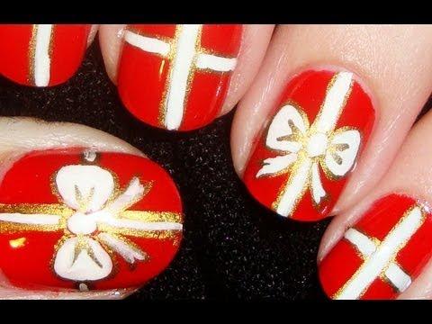 Gift wrapped nail art short nails youtube gift wrapped nail art short nails prinsesfo Choice Image