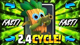 NEW 2.4 INSANELY FAST CYCLE DECK CAN'T BE STOPPED!! NEW META OP!!