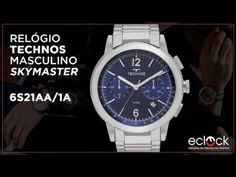068eaee1ea451 Relógio Technos Masculino Skymaster 6S21AA 1A - Eclock - Eclock Relógios -  imclips.net