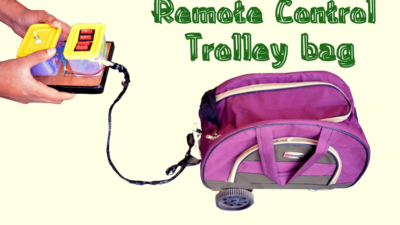 How to Make Remote Control Luggage Trolley