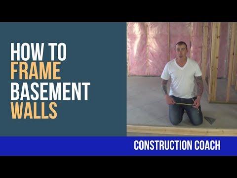 How to Frame Basement Walls - DIY