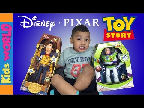 TOY STORY Woody and Buzz LightYear Toys Review and Unboxing | Charlie's Kids World