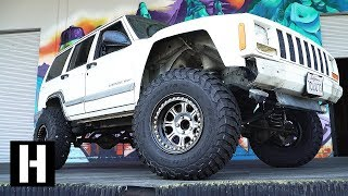 Jeep XJ Gets Lifted on 33s. Off Road Camera Chase Vehicle Build!