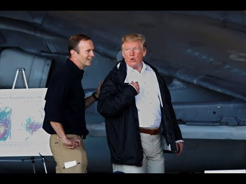 Disaster Relief Crew goes CRAZY when President Donald Trump Arrives for Briefing
