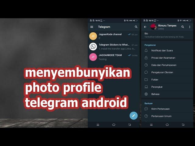CARA MENYEMBUNYIKAN FOTO PROFIL TELEGRAM